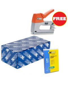 Tacwise 140 Staples 8mm (20,000 Box) - Comes With Free TAC0806