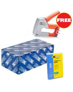 Tacwise 140 Staples 6mm (20,000 Box) - Comes With Free TAC0854