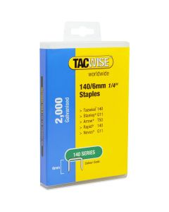 Tacwise Type 140 Staples 6mm (2,000 Pack) - Plastic Pack - 1416