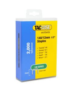 Tacwise Type 140 Staples 12mm (2,000 Pack) - Plastic Pack - 1419