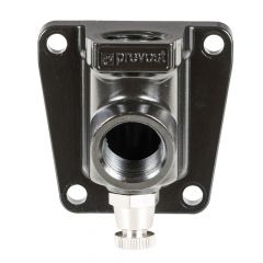 Female Thread Single Wall Bracket - Outlet 1 Coupler And Drain