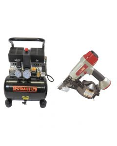 Max CN452S Flooring Coil Nailer Complete Package (110V) - 2848C110V