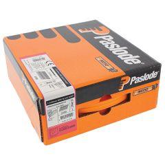Paslode IM350+ Nails 50mm - 2.5mm RG Hardened Steel Black - 2 Fuel Cells - 2200 Pack