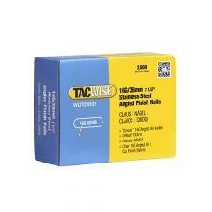 Tacwise 16G - 38mm Angled Stainless Finish Nails 2500 Pack - 1223