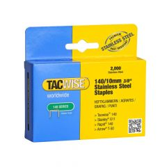 Tacwise Type 140 - 10mm Stainless Steel Staples (2,000 Pack) - 1217