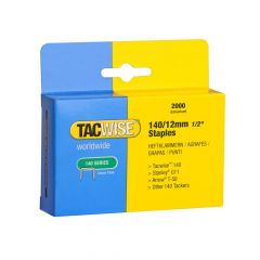 Tacwise Type 140 - 12mm Staples (2,000 Pack) - 0348