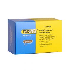 Tacwise Type CT-60 - 10mm Cable Staples (5,000 Pack) - 0354