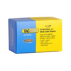 Tacwise Type CT-60 - 10mm White Cable Staples (5,000 Pack) - 1094