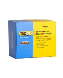 Tacwise Type CT-60 - 14mm Black Cable Staples (5,000 Pack) - 1061