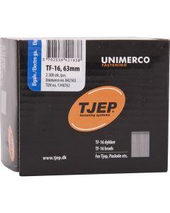 Tjep TF16 63mm Galv Brads (2500 Pack) - 34TJEPSB1663