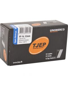 Tjep VF16 32mm Galv Brads (2000 Pack) - 34TJEPAB1632