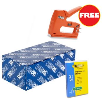 Tacwise 140 Staples 10mm (20,000 Box) - Comes With Free TAC0807