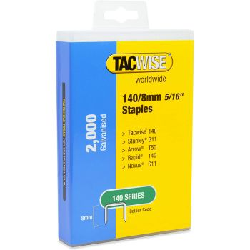 Tacwise Type 140 Staples 8mm (2,000 Pack) - Plastic Pack - 1417