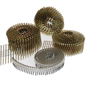 Flat Top Coil Nails 2.5 x 45mm Galvanised - Ring Shank (9000 Pack)