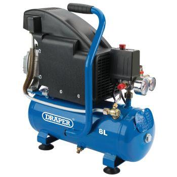 Draper Air Compressor, 8L, 0.75kW - 24975