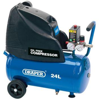 Draper 24L Oil-Free Air Compressor (1.1kW) - 24978