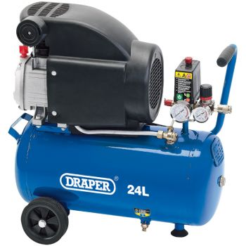 Draper Air Compressor, 24L, 1.5kW - 24980