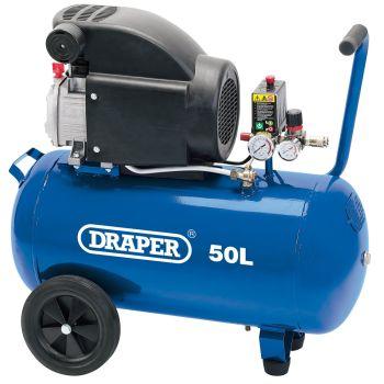 Draper Air Compressor, 50L, 1.5kW - 24981