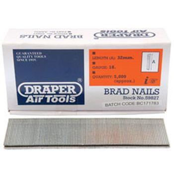 Draper 32mm Brad Nails (5000) - 59827