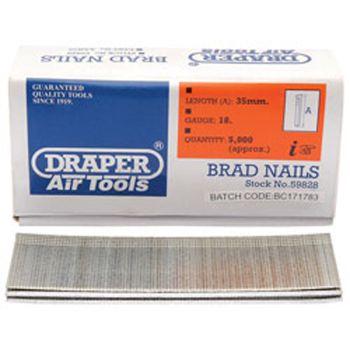 Draper 35mm Brad Nails (5000) - 59828
