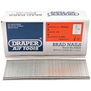 Draper 38mm Brad Nails (5000) - 59829