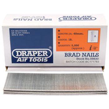 Draper 40mm Brad Nails (5000) - 59830