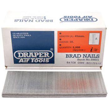 Draper 45mm Brad Nails (5000) - 59831