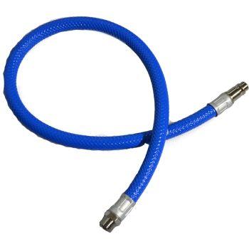 """Safety Whip Hose 60cm 1/4"""" BSP - Hi-Flow Adapter"""