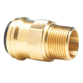 "Brass Straight Adaptor 15mm - 1/2"" Male"