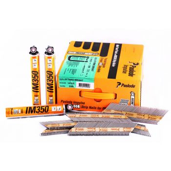Paslode IM350+ Nails 63mm - 3.1mm RG HDGV - 2 Fuel Cells - 2,200 Pack