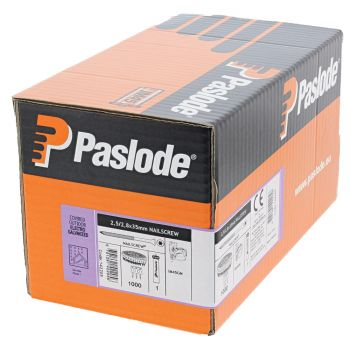 Paslode IM45 GN Nails 40mm - 2.5mm Nailscrew Galv Plus Torx - 1 Fuel Cell - 750 Pack