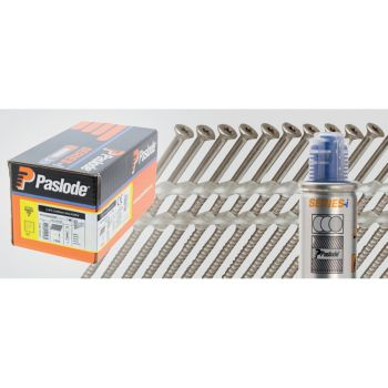 Paslode Nail Screws 50mm - 2.8mm S/Steel A2 TX15* - 1 Fuel Cell - 1100 Pack