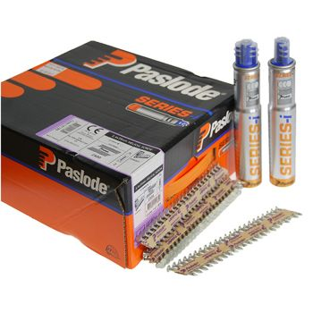 Paslode PPN35Ci Nails 35mm - 3.4mm Twisted Electro Galvanised - 2 Fuel Cells - 2,500 Pack