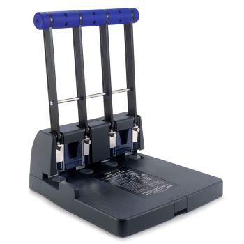 Rapesco 4400 Heavy Duty 4-Hole Punch (150 Sheets) (black / purple) - PF4000A1