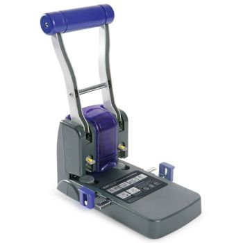 Rapesco ECO P1100 Heavy Duty 2-Hole Punch (100 Sheets) (black / purple) - 0247