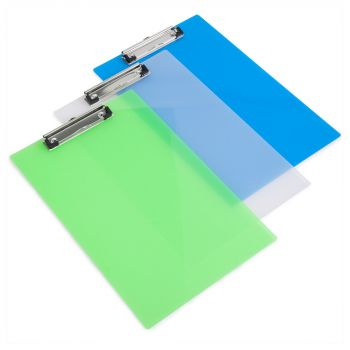 Rapesco Frosted Transparent Clipboard, A4/Foolscap (assorted colours) - SHPPCBAS