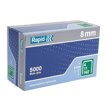 Rapid 140/8 8mm Galvanised Staples Box 5000 - 11908111