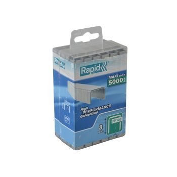 Rapid 140/8 8mm Galvanised Staples Poly Pack 5000 - 40303089
