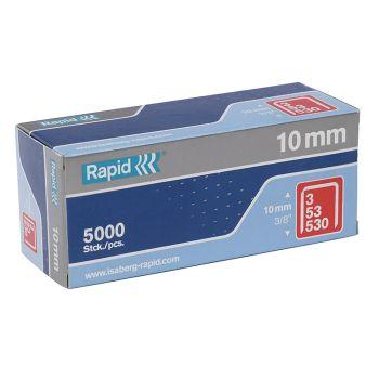 Rapid 53/10B 10mm Galvanised Staples Box 5000 - 11858810