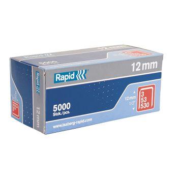 Rapid 53/12B 12mm Galvanised Staples Box 5000 - 11859610