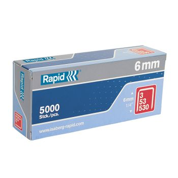 Rapid 53/6B 6mm Galvanised Staples Box 5000 - 11856250