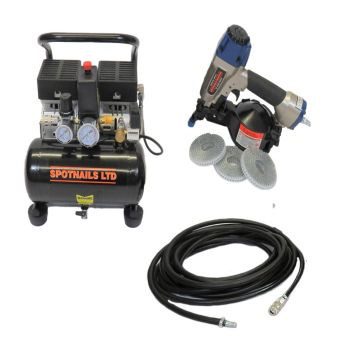 Spotnails SFN19 Flooring Coil Nail Gun Complete Package (110V) - 39SFN19C110V