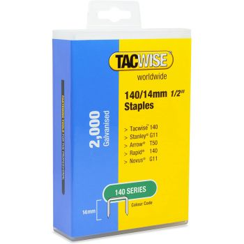 Tacwise Type 140 Staples 14mm (2,000 Pack) - Plastic Pack - 1420
