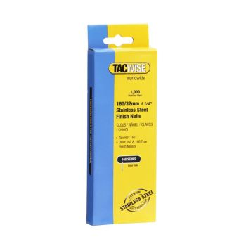 Tacwise 160 - 32mm 16G Stainless Finish Nails 1000 Pack - 1096