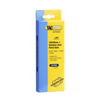 Tacwise 160 - 50mm 16G Stainless Finish Nails 1000 Pack - 1098