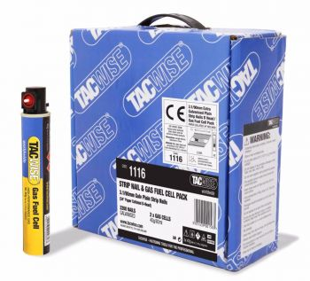 Tacwise 3.1 x 90mm Extra Galv Plain Nail & Gas Pack 2200 - 1116