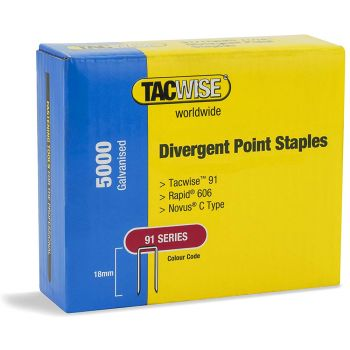 Tacwise 91 Series - 22mm Divergent Point -Galv - 1617