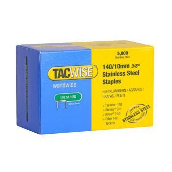Tacwise Type 140 - 10mm Stainless Steel Staples (5