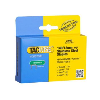 Tacwise Type 140 - 12mm Stainless Steel Staples (2