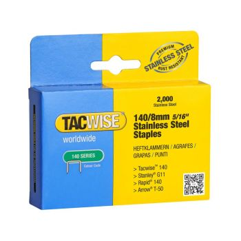 Tacwise Type 140 - 8mm Stainless Steel Staples (2